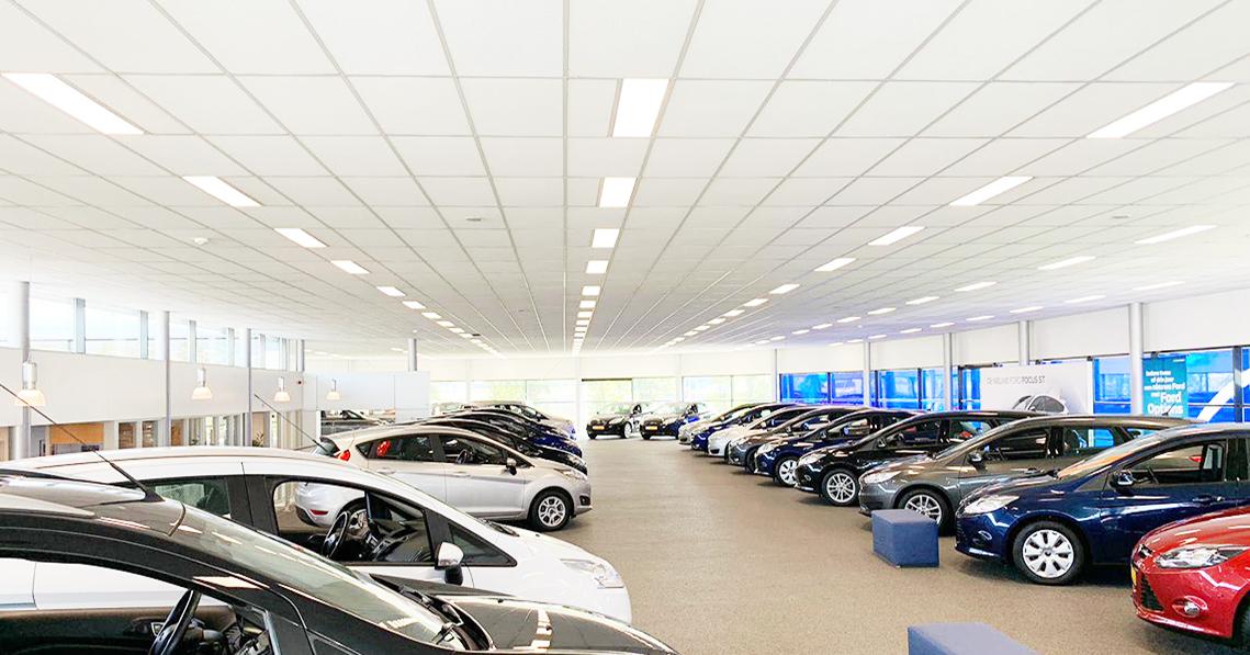 Verbatim Lighting | Case study:Ford dealer Schurer-Kamphuis