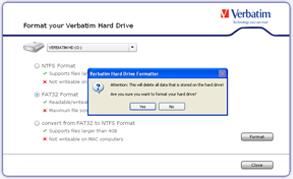 verbatim smartdisk fat32 tool